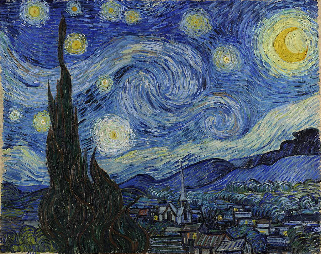 Vincent Van Gogh -Starry Night (Έναστρη Νύχτα) - 1889